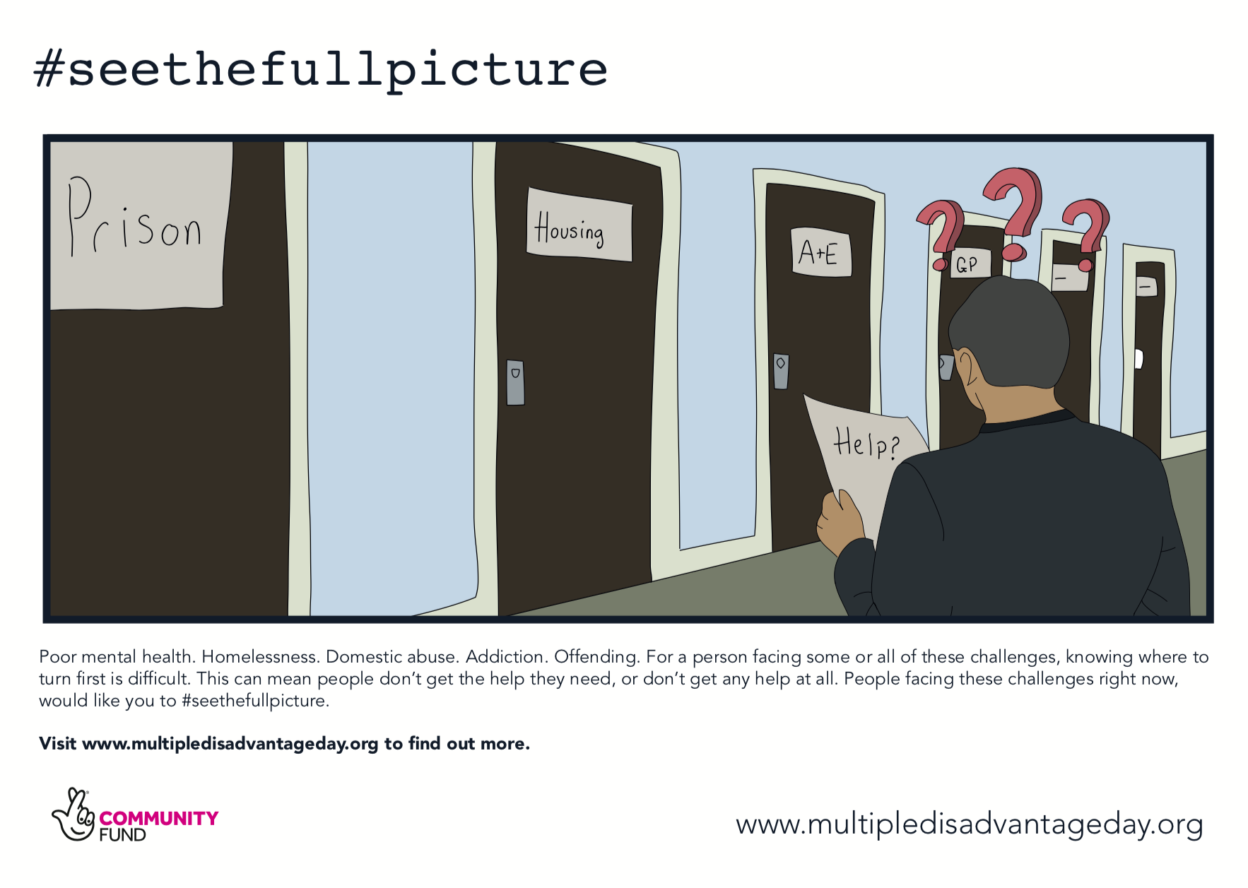 Multiple Disadvantage Day - #seethefullpicture - Campaign Graphics - Doors