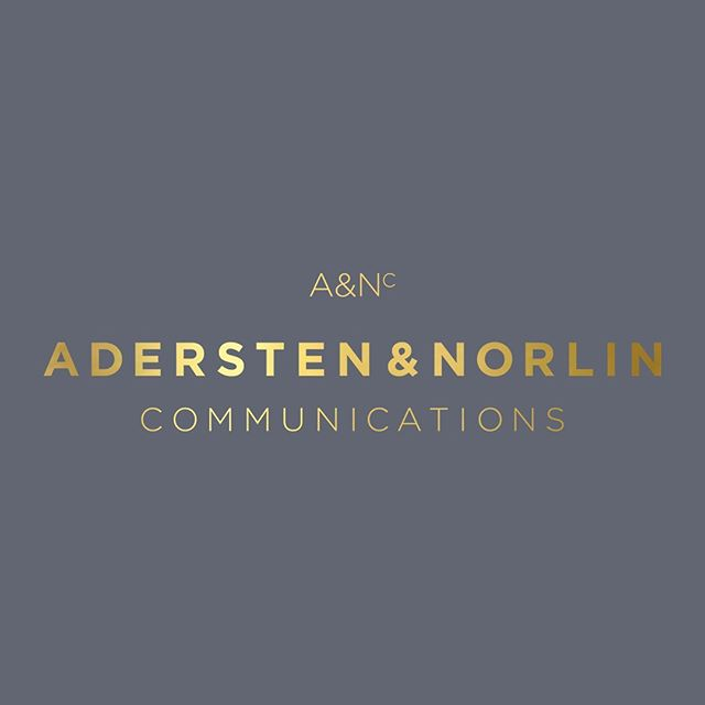 Logo I made for @aderstennorlin. Elegant, just like the founders of the bureau. 🖤
