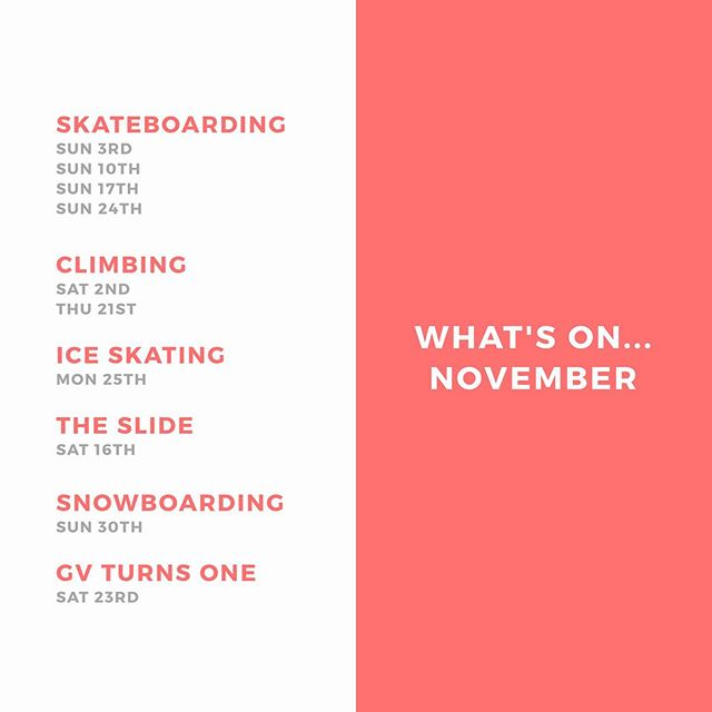 The schedule for November is up!!Follow the links to book your spot or send us a DM for more details. See you on our next Girlventure!