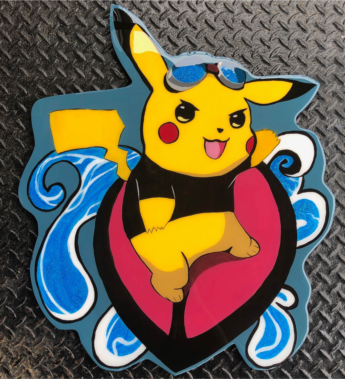 Pikachu Surf Wood cutout