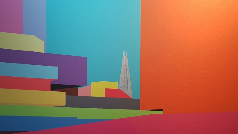 National Theatre Colours, Brushed Aluminium, 61 × 98 × 0.3 cm
