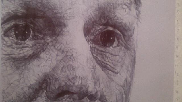 Stuart Pearce , Pen drawing on paper, 75 × 85 × 0.1 cm