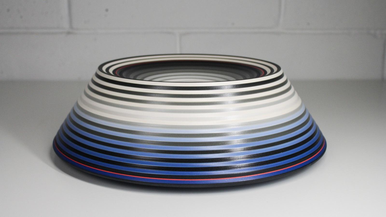 OPject - Mountain Ridged Form , Earthenware, 14 × 35 × 35 cm