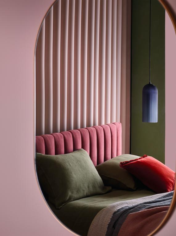 Image: Deco Pink Velvet Bed, £550