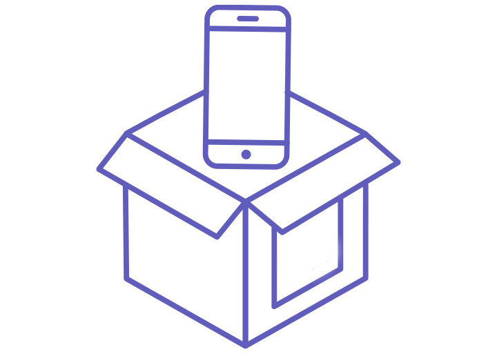 step 2 - Pack your used electronics in the box of your choice that meets the USPS size specifications for your purchase.(Details included on shipping label)