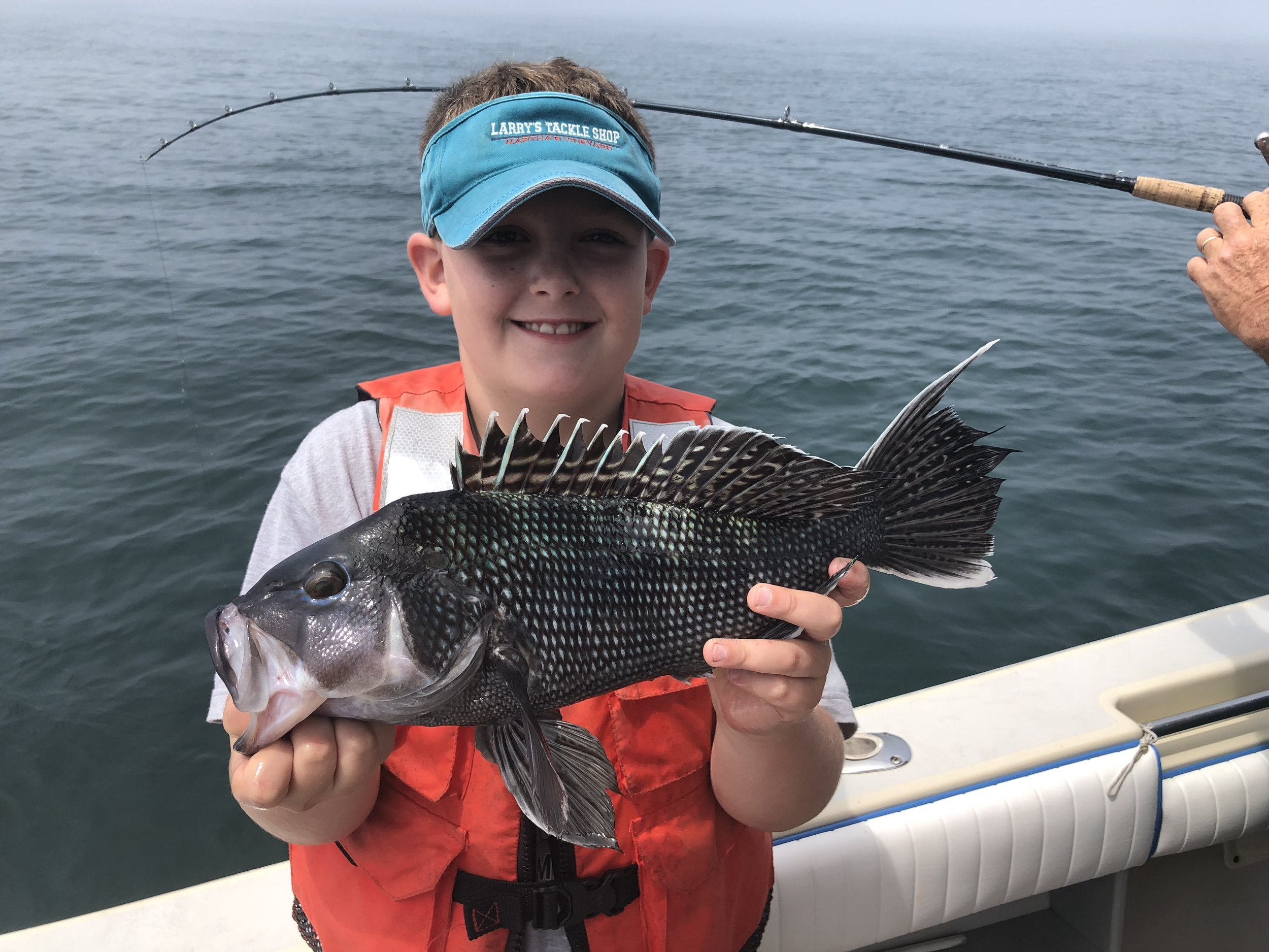 Eben Solway with a Black Sea Bass