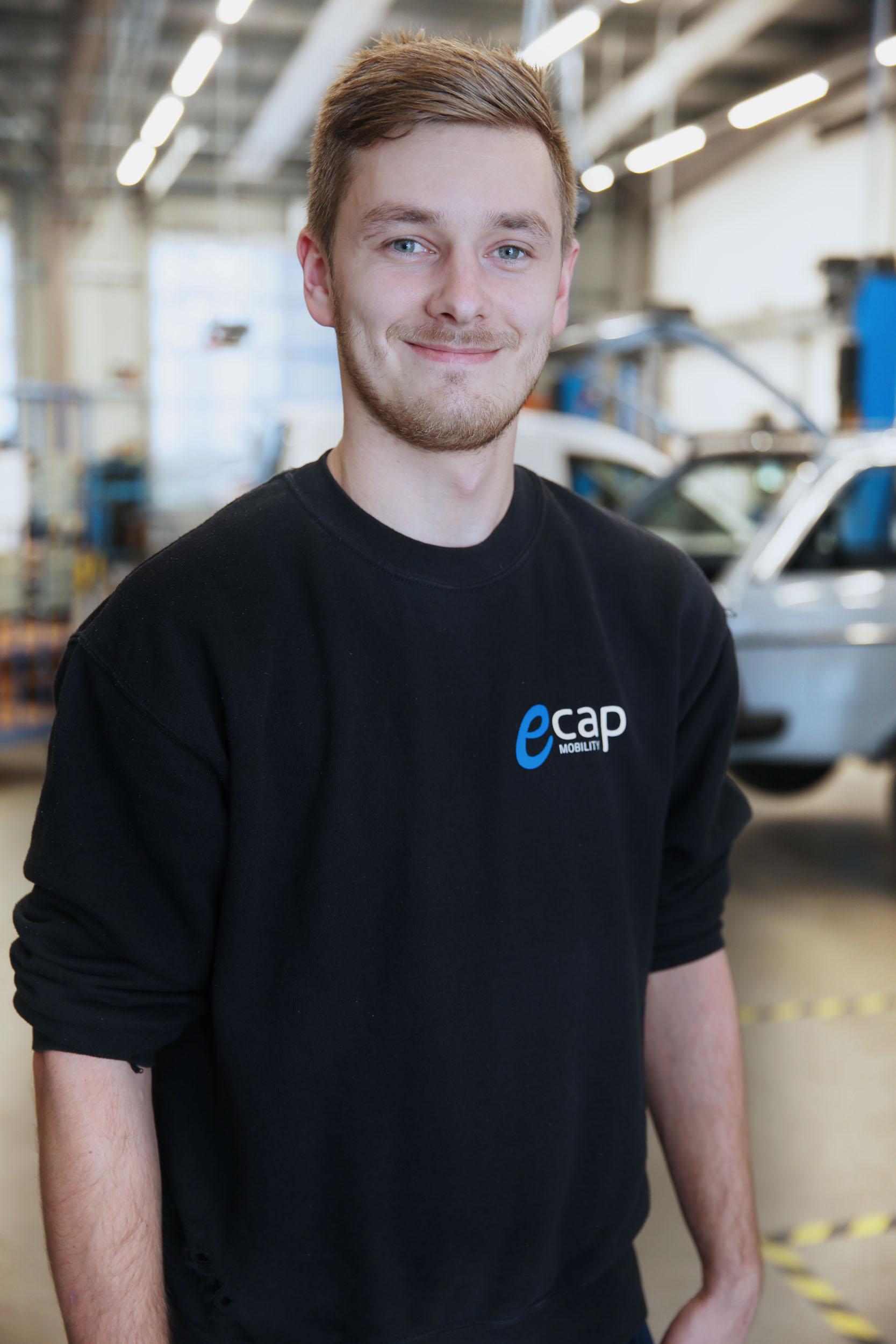 Arjan Meyer | Mechatronics Technician ame@ecap-mobility.com