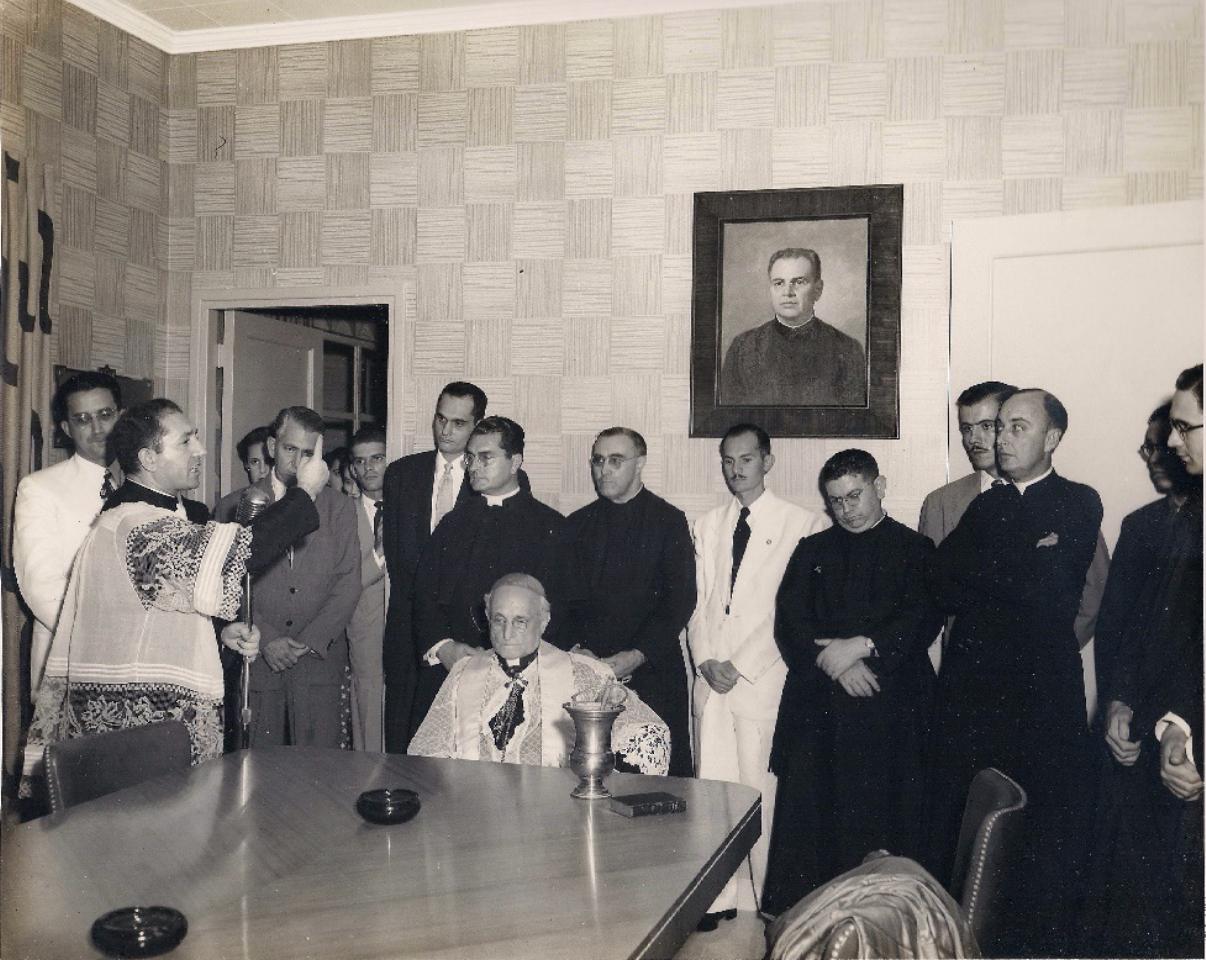 Fr. Amando Llorente in Fr. Rey de Castro Memorial Room