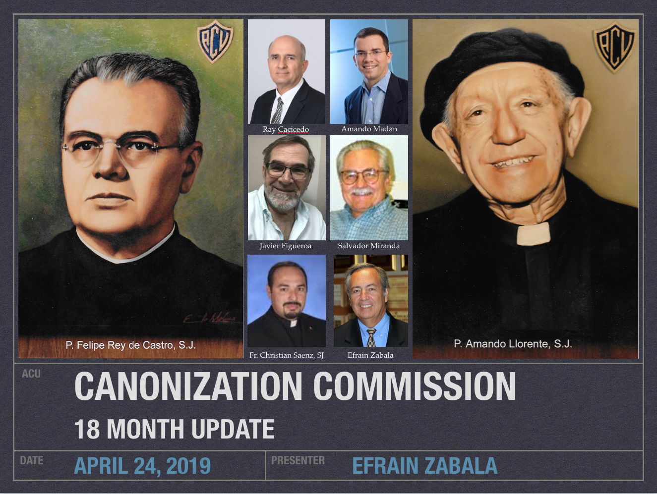 2019 Canonization Commission Update