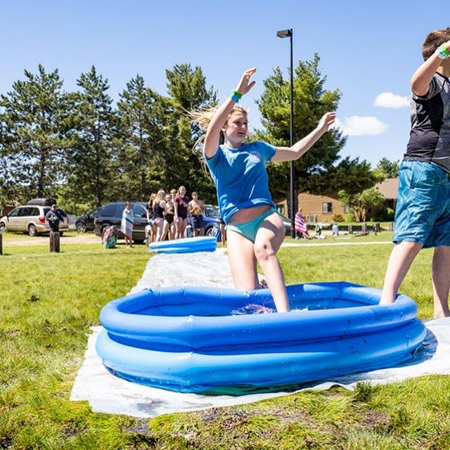 Slidin' into Summer like.... (swipe thru them all!!) . Did you see all the pix yet? #fusionpix #kiddiepoolkickball #PureMadness #IThinkShesSafe #TheSplashIsGonnaGetYou