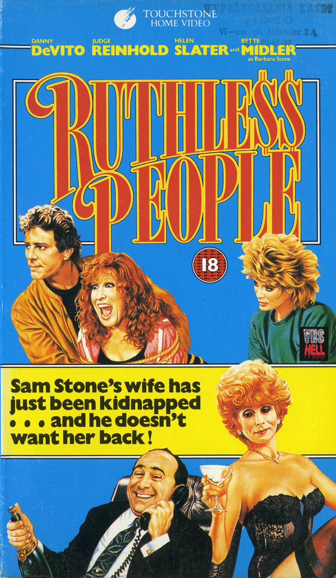 """S1 E7 """"I've Been Kidnapped by Kmart!"""" - It's like mom always said: don't try to fake your spouse's kidnapping if your mistress is just gonna frame you for murder. This week, Daniel sees Ruthless People for the first time. We talk 1980s style and how weird it is that this is an R-rated Disney movie. Mick Jagger yells at us, and basically everyone else. Put on your duck mask and listen now!Listen and subscribe here."""