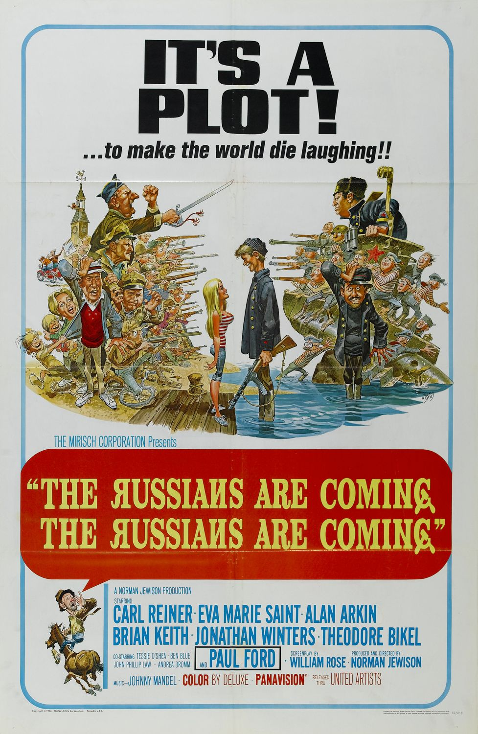 """S1 E11 """"Egermency! EGermency!"""" - Russian invaders, American freakouts, and panic in the streets. Nope, it's not Twitter: It's 1966's The Russians Are Coming, the Russians Are Coming, and it's Daniel's first time seeing this classic Cold War satire. We talk about the genius physical comedy of Carl Reiner and Jonathan Winters, the brilliance of Alan Arkin (in his first movie!), and why Tracy still has a crush on Brian Keith. Get organized and listen now!Listen and subscribe here."""