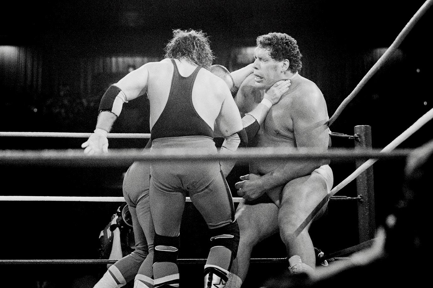 1989-0407-Andre-the-Giant-Jim-Neidhart-Bret-Hart-Foundation-Wrestlemania-2