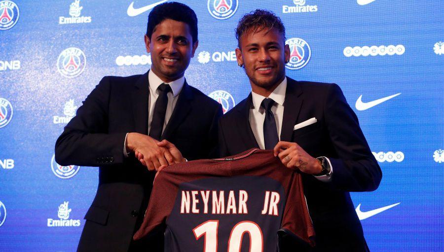 Neymar Nasser Al Khelaifi PSG