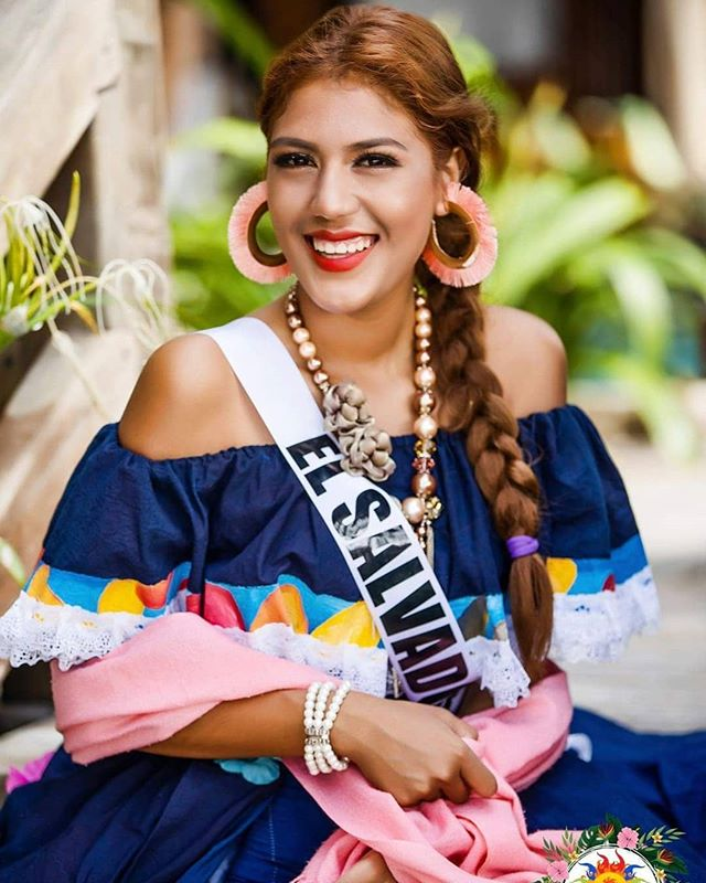 Miss El Salvador in her traditional costume