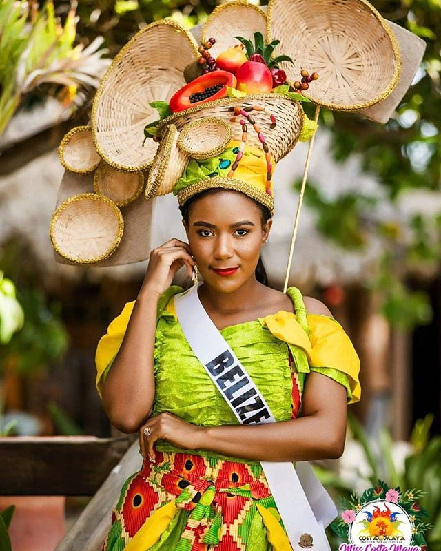 Miss Belize in her traditional costume