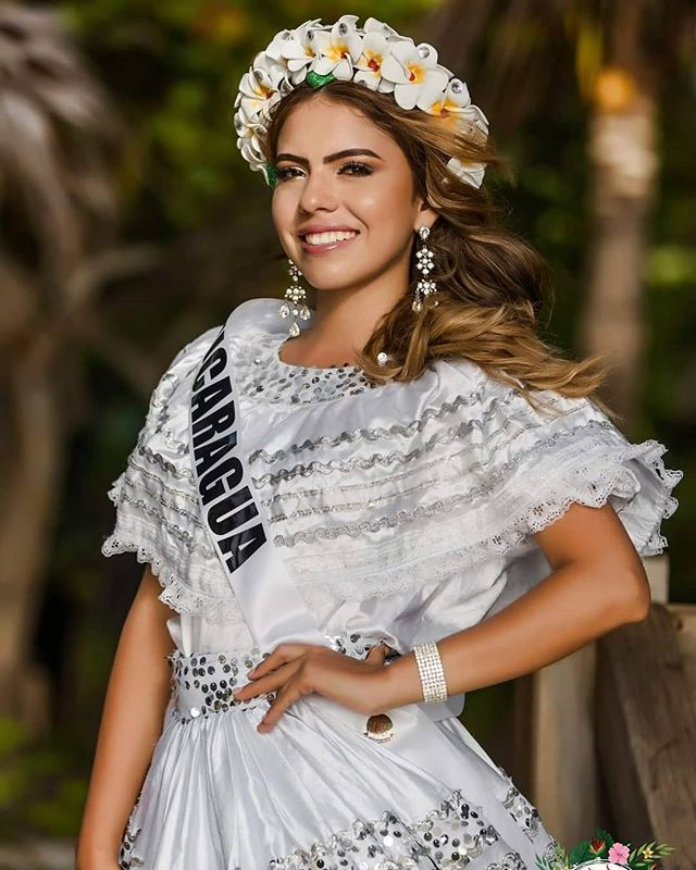 Miss Nicaragua in her traditional costume