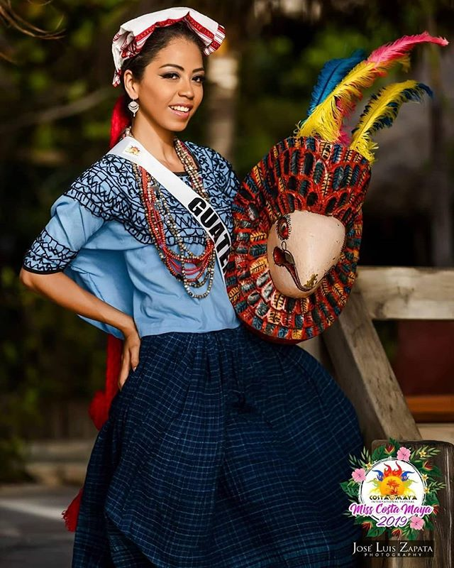 Miss Guatemala in her traditional costume