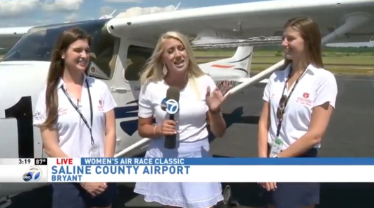 Good Afternoon Arkansas - After the first two legs of the Air Race Classic were canceled, our team made it to the 3rd stop in Arkansas. They joined ABC 7 - Little Rock to talk about the journey so far!Watch Story