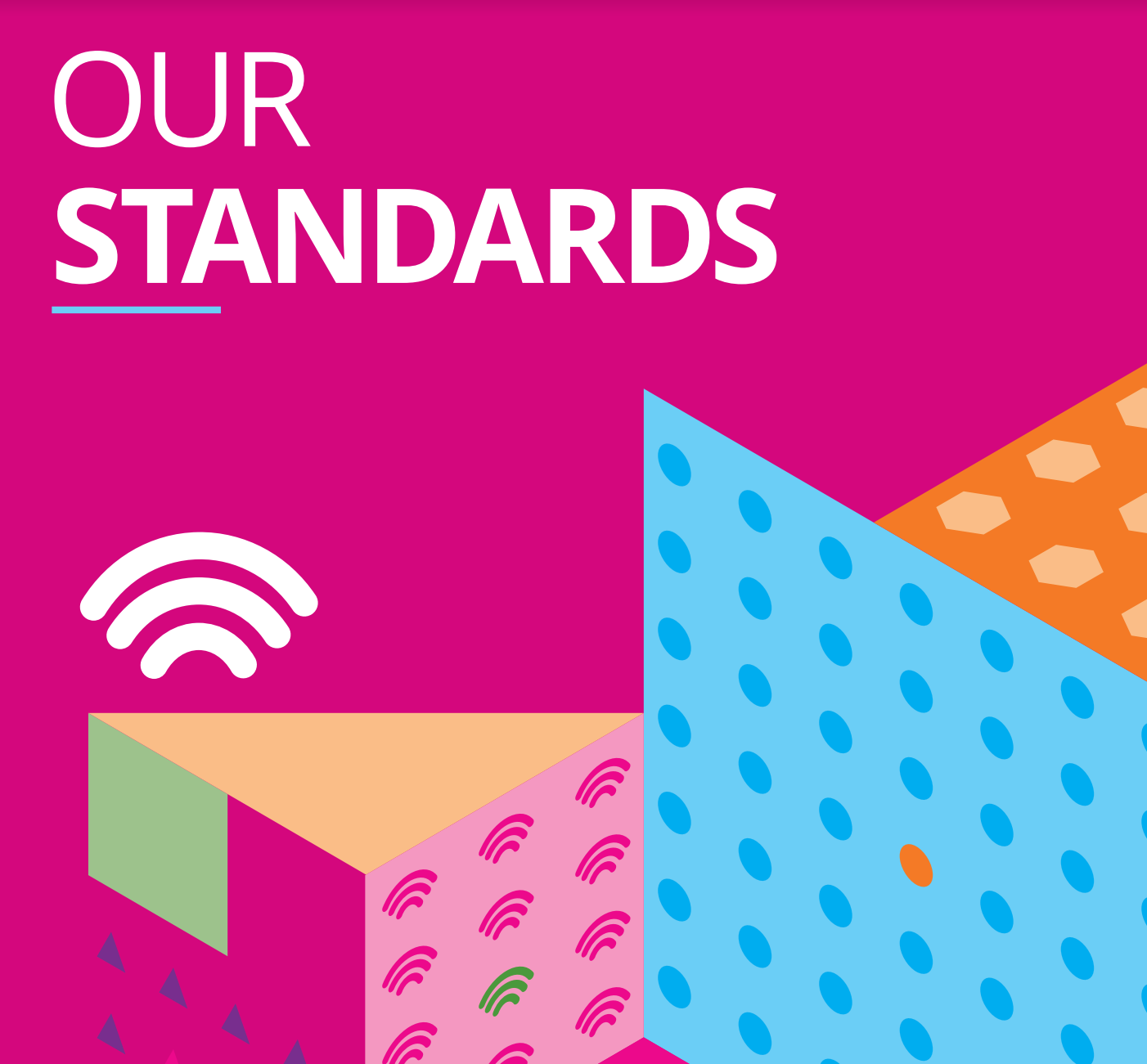 Extract from the front cover of  Our Standards , the staff handbook about values