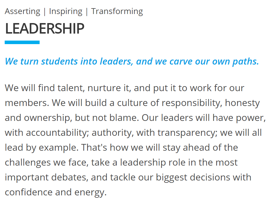 Extract from  Leadership  value