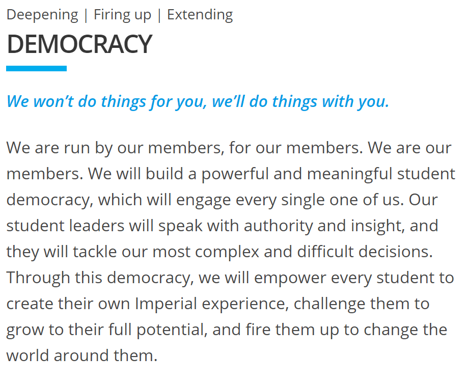 Extract from  Democracy  value