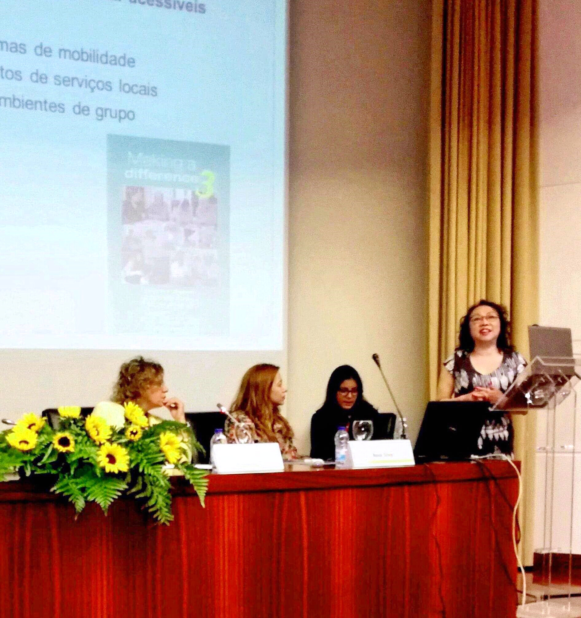 """Dr Phuong Leung presented """"Making a difference 3"""" individual Cognitive Stimulation Therapy in dementia at the 1st International Colloquium """"Aging, Health and Citizenship"""" conference in Coimbra Portugal"""
