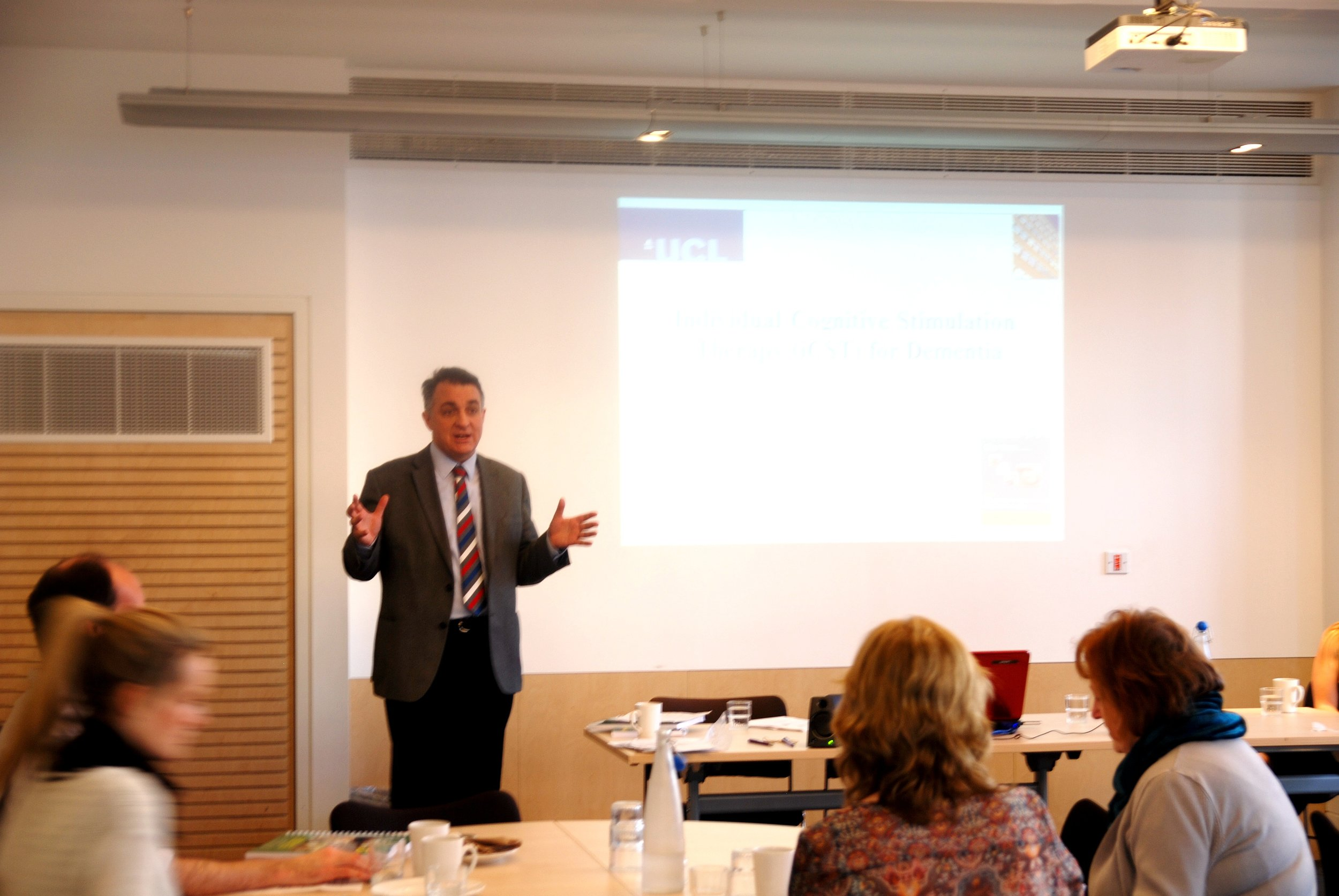 Professor Martin Orrell disseminated iCST research findings to the iCST research team at University College London