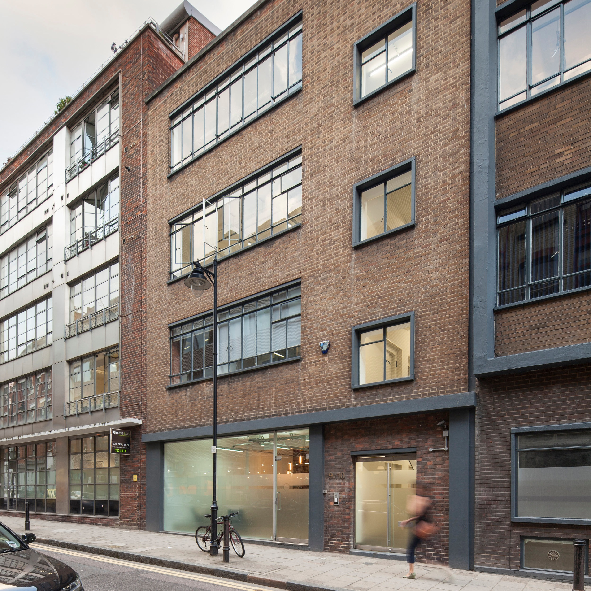 great sutton st, clerkenwell - Acquired in the summer of 2012 along with the adjacent building, this 1960's property was purchased with vacant possession and in need of refurbishment.The scheme we built delivered a contemporary office fit-out whilst retaining the building's industrial character; a pre-let of the entire building was agreed to a well-known film production company.We have recently secured consent to demolish the two buildings and develop a new, modern showroom and office building.