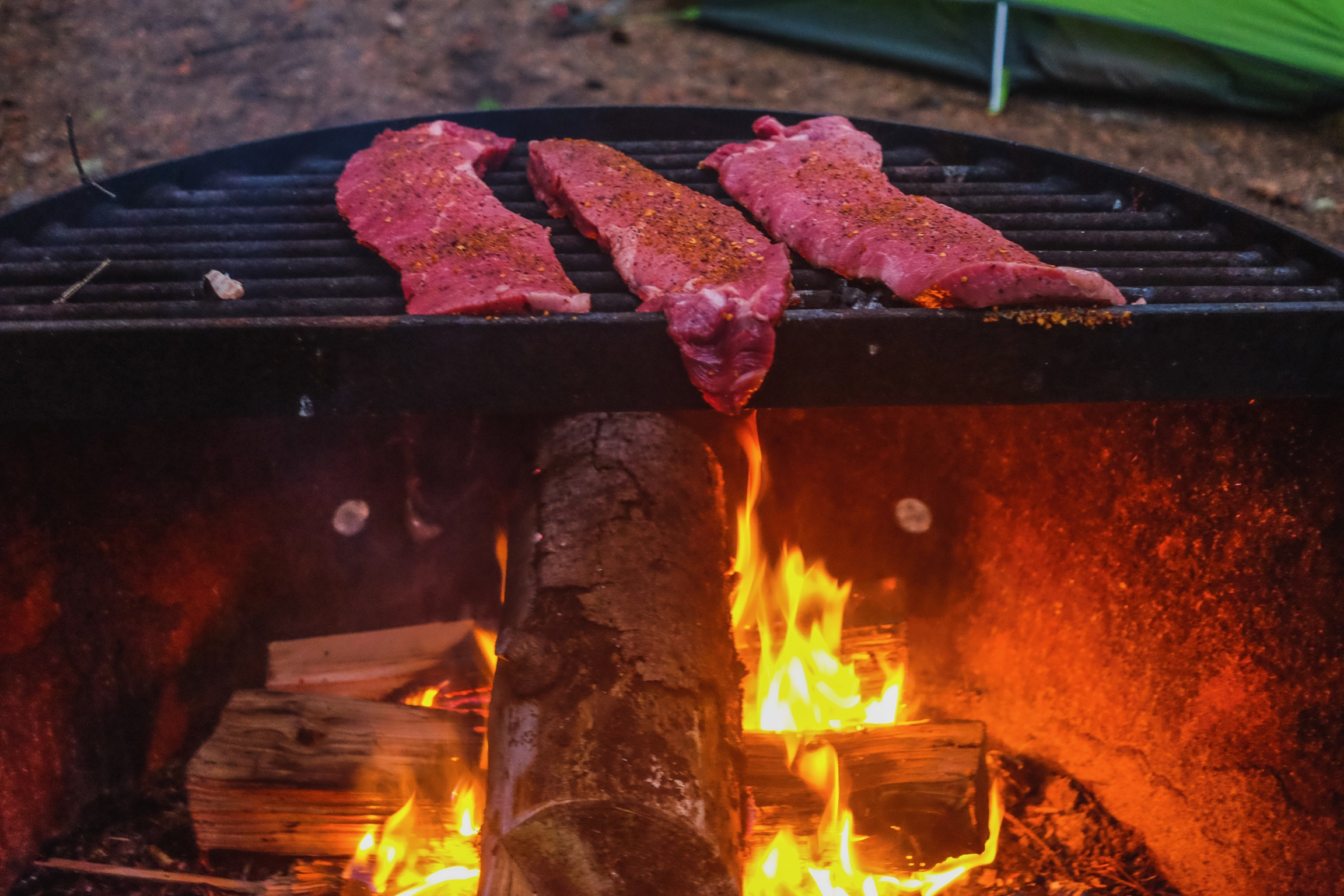 Steaks for dinner! Cavemen love fire...-.jpg