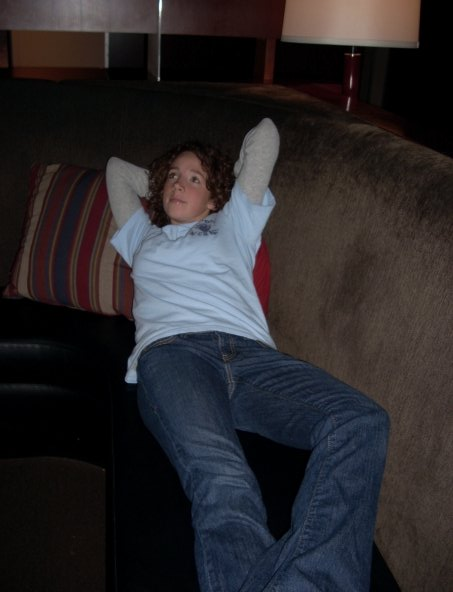 You don't know this, but Madi is day dreaming of Doctor Who on this couch. This is the age she started loving sci-fi. Ahh, facebook reveals so many things.