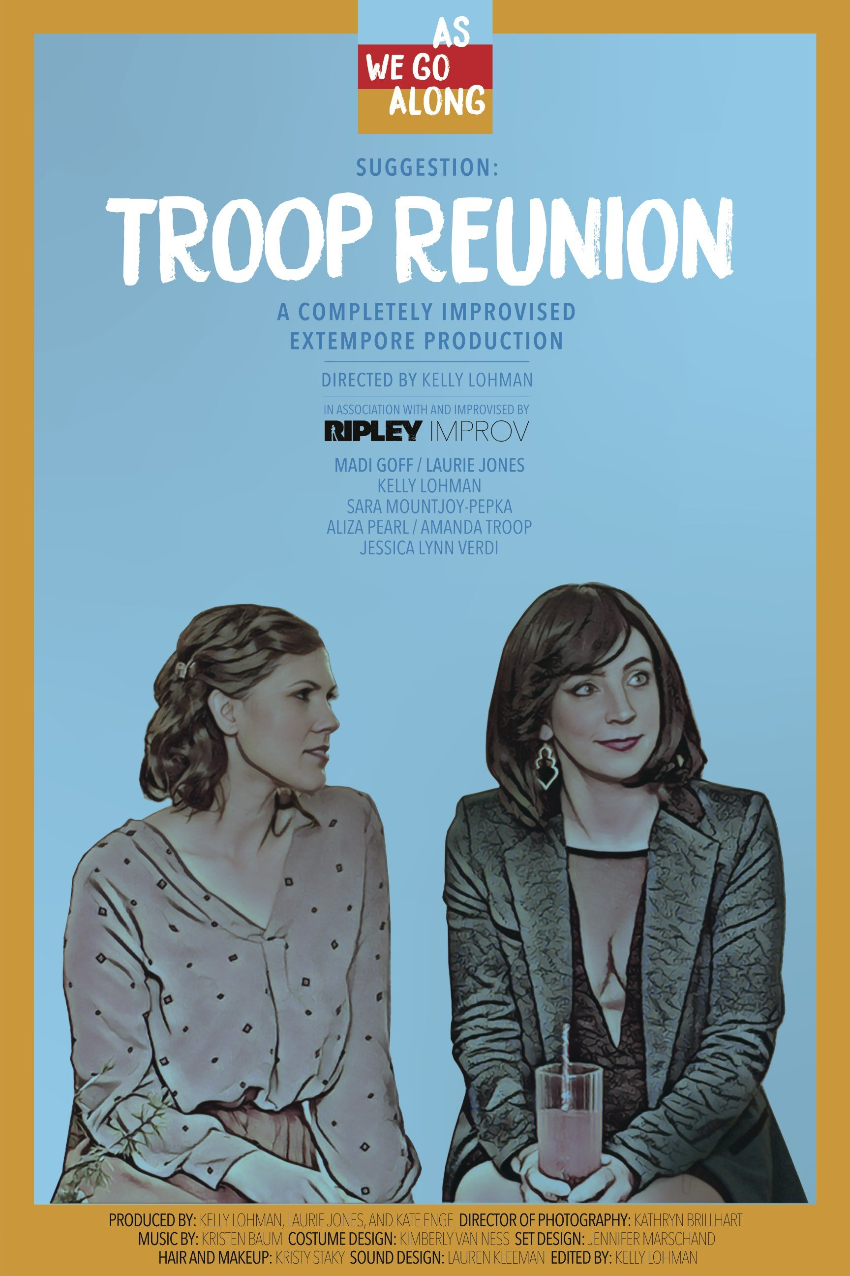 Troop Reunion: After 20 years, Amelia throws a reunion party for her group of girlhood scouts. But Amelia has big plans, and an even bigger question for one of the troop members. So big that she decides to hire a filmmaker to capture the momentous occasion. But the troop reunion begins to fall apart as the six women discover how wildly different they've become, questioning whether their friendships can survive radical change -- all in front of a film crew.