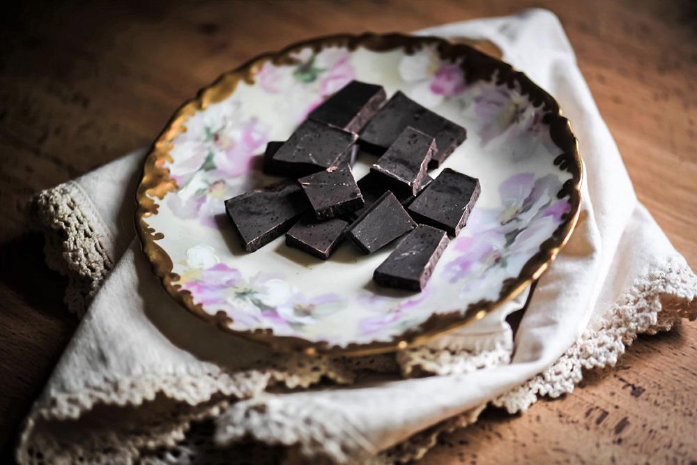 dark mint chocolate bar pieces