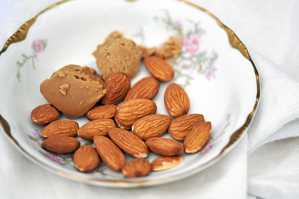 almonds and peanut butter