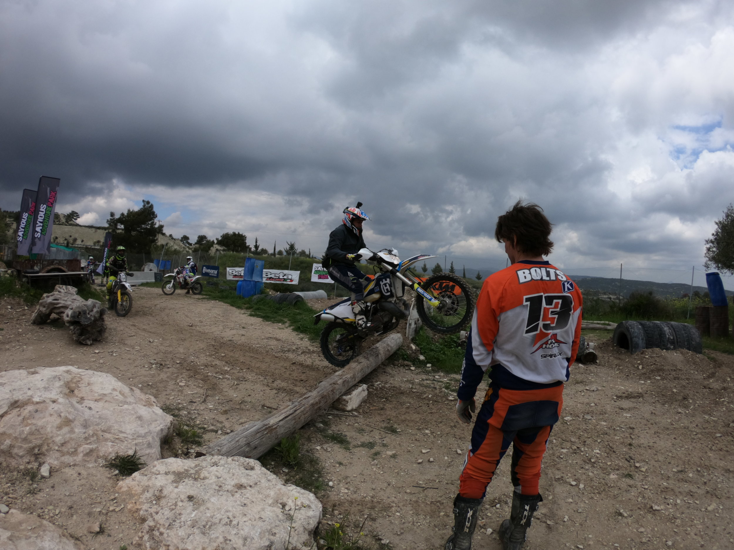 Paul bolton in Cyprus endurocross