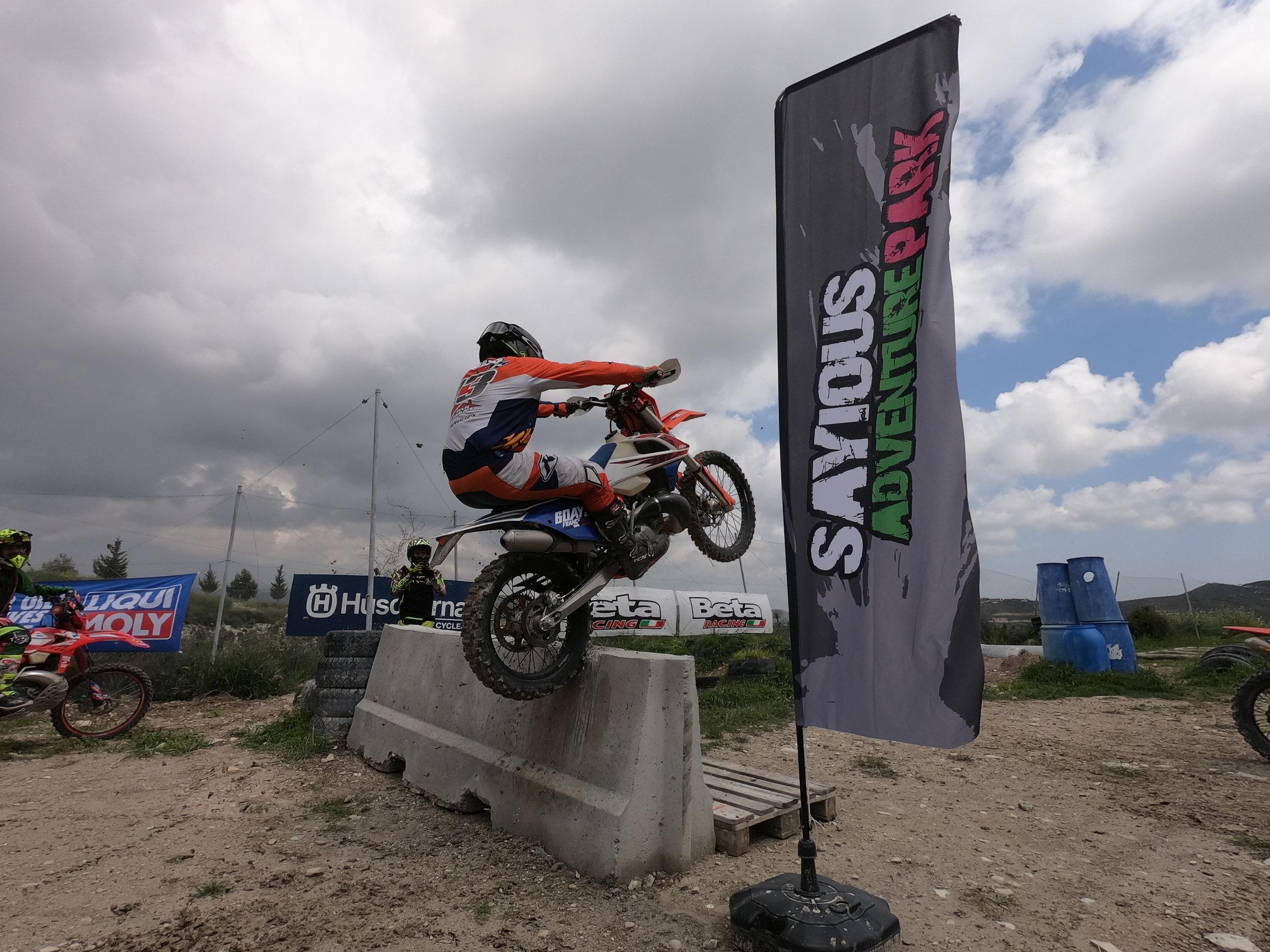 Paul bolton over a barrier