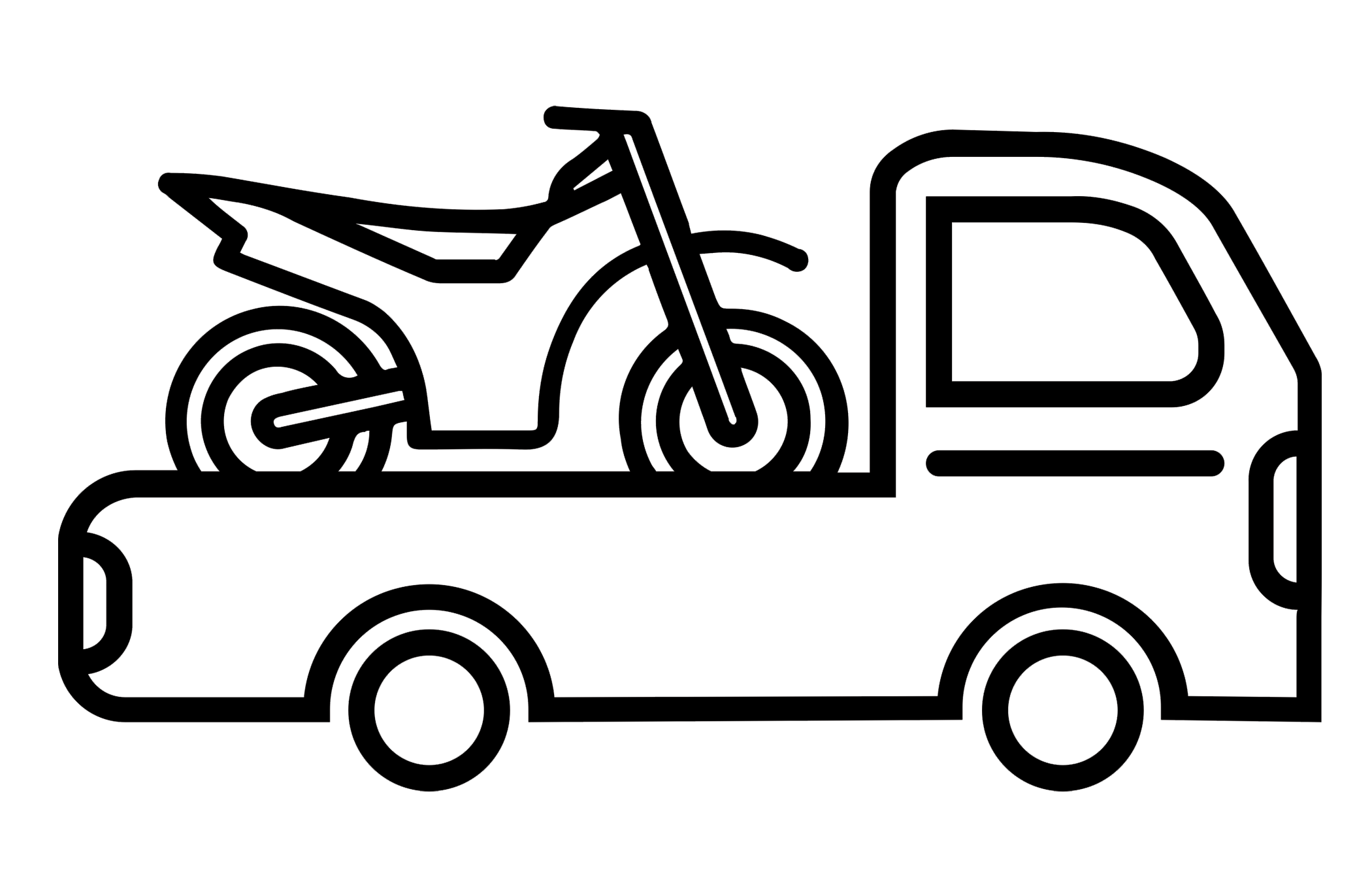 Motorbike Transportation - Motorbike and equipment transport upon availability. Contact us for more information.