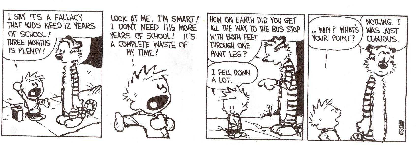 Calvin & Hobbes - School