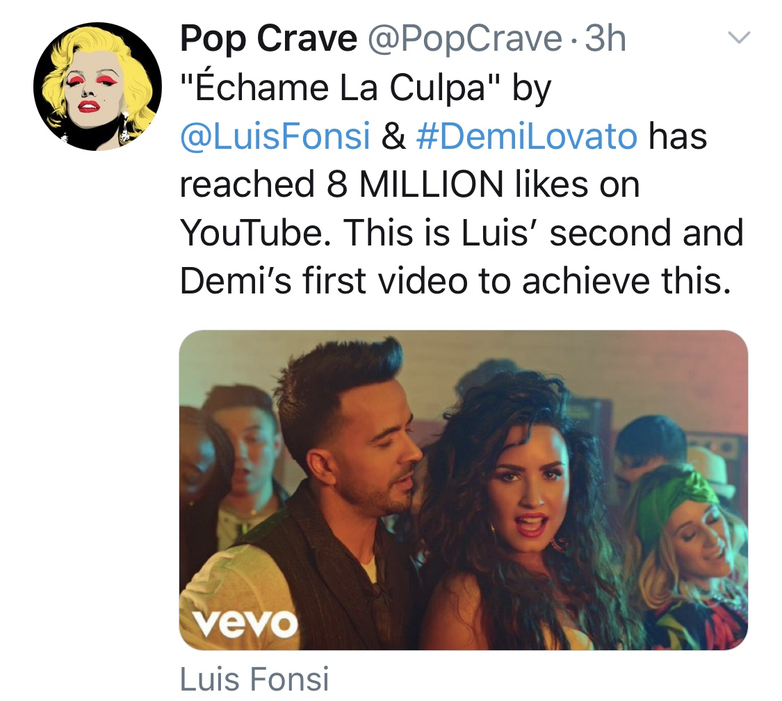 #ÉchameLaCulpa hits 8 million likes