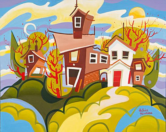 Funny Farm - Oil on Canvas | 28