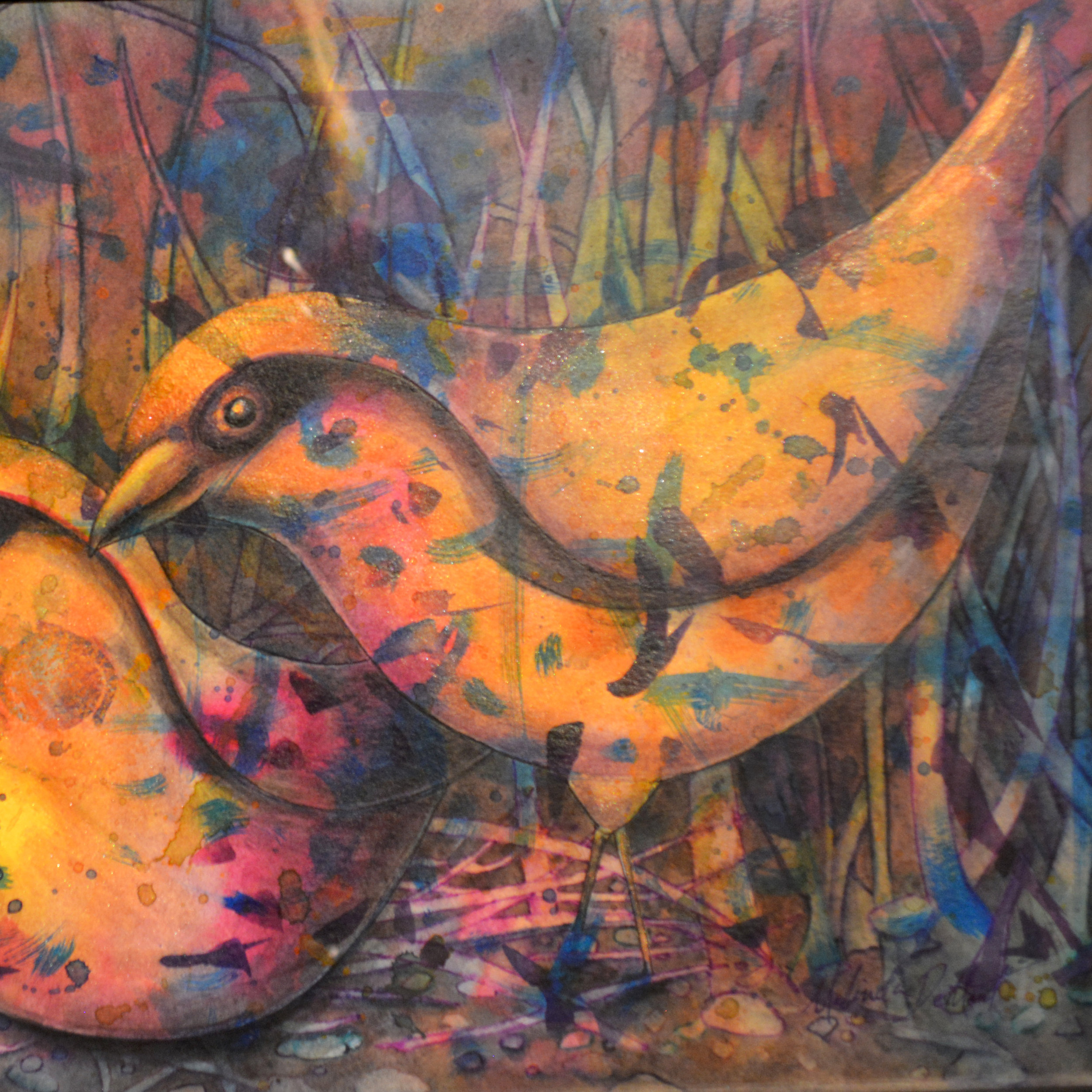Melinda Dement - A mix of whimsical and spiritual work ranging in styles and subjects, mixed media.