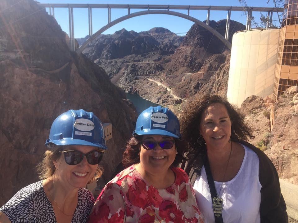 Myself (Left) with colleagues Representative Rosanna Gabaldon (LD2) & Senator Lisa Otondo (LD4) visiting the Hoover Dam, a major infrastructure component of the Colorado River Pact.