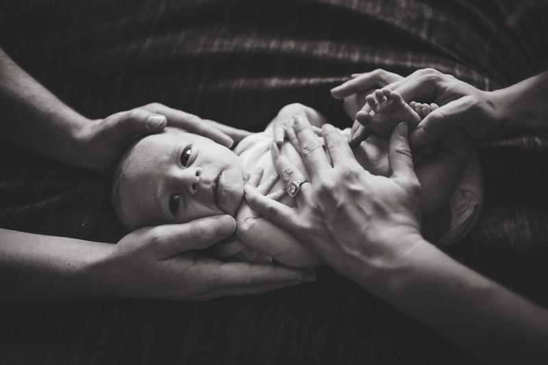 lifestyle newborn posing baby led Elena S Blair Education For Photographers