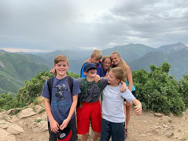 This morning we hiked to the summit of Grandeur Peak! The journey was rough in spots (and some of us lost track of how many times the question 'are we there yet' was asked) but the time at the top was well enjoyed! Congrats to this summit crew!