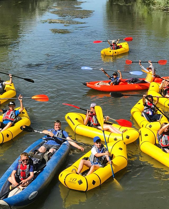 Today is hot and we're missing this rowdy crew of paddlers!
