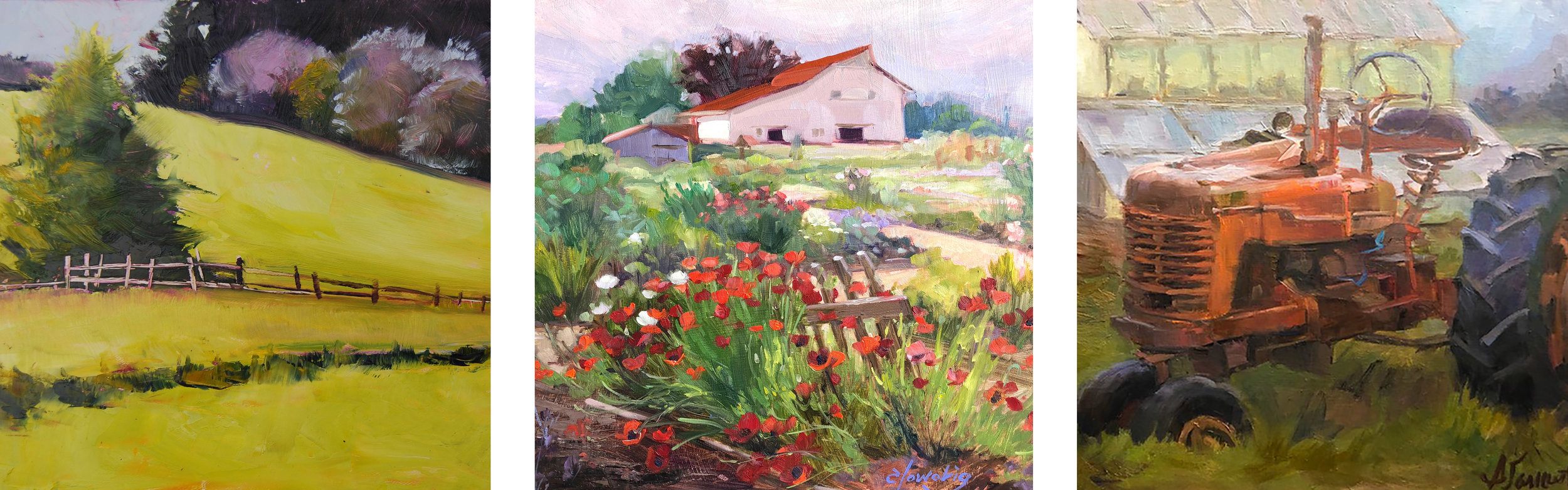 The Luscher property is inspiration for many artists whose works are exhibited at the Lake Oswego Arts Council's Chronicle Plein Air event every year.