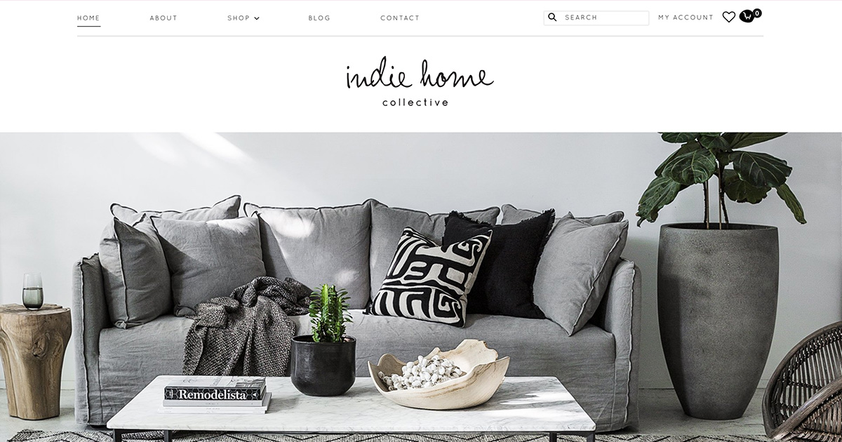 Indie Home Collective: Homewares — eCommerce
