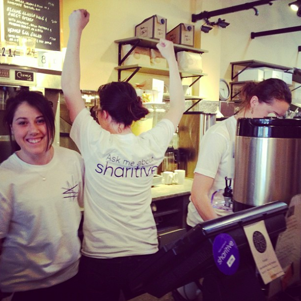 The launch of Sharitive at Crema Cafe in Cambridge, MA. 2012