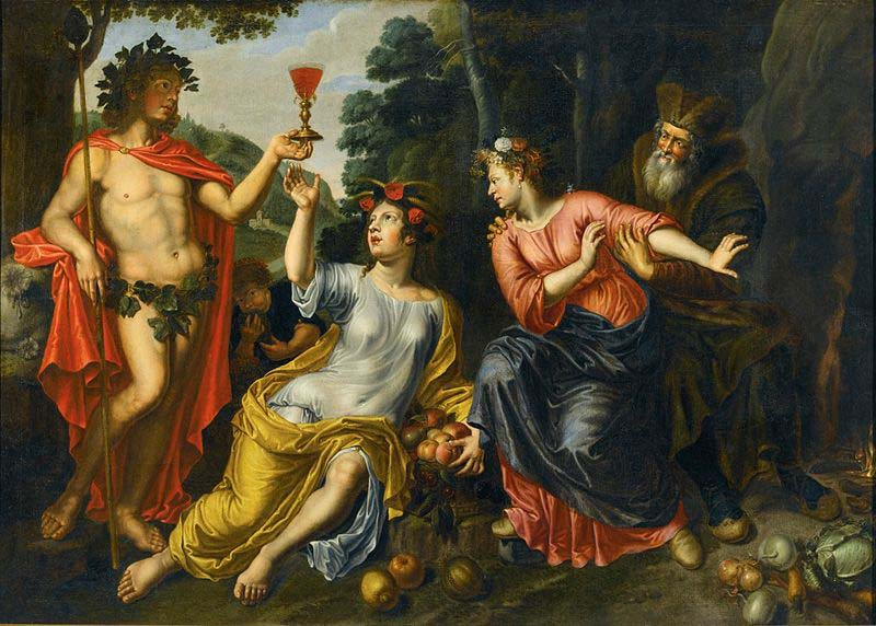 Bacchus, Ceres, Proserpina, and Pluto by Pieter van Lint