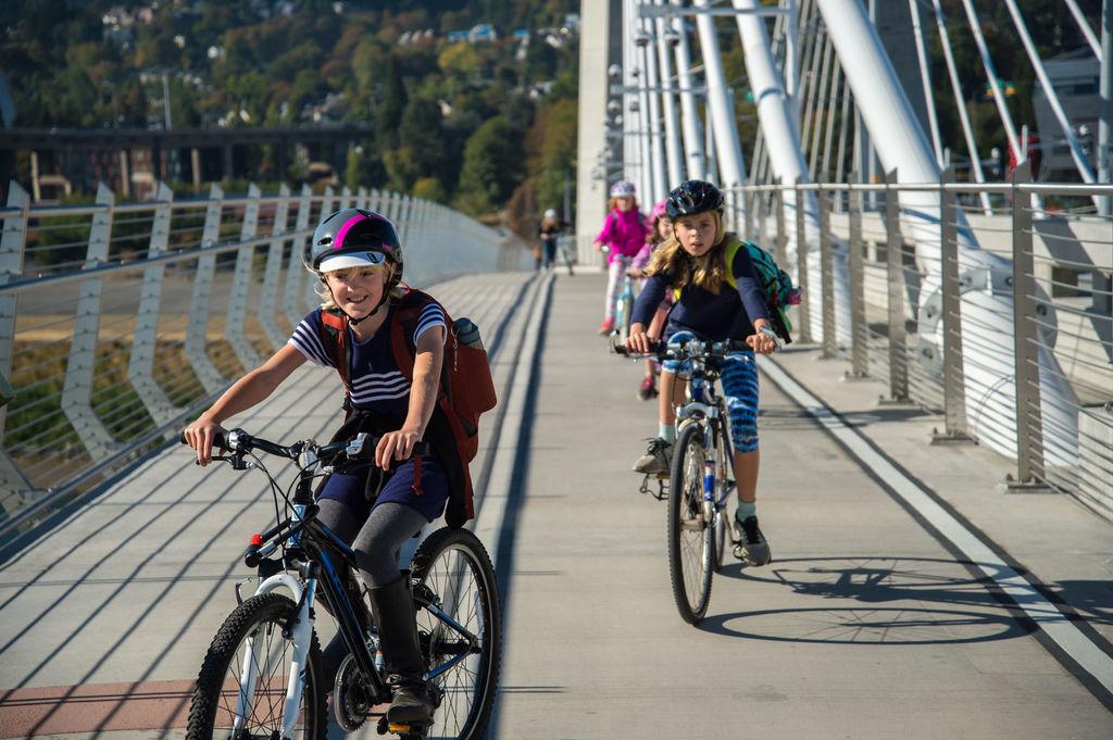 Bridge tour by bike